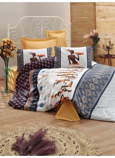 Eponj Home Battaniyeli Nevresim Takımı Çift Kişilik AfrikaPigme Lacivert(22399/22769) Lacivert